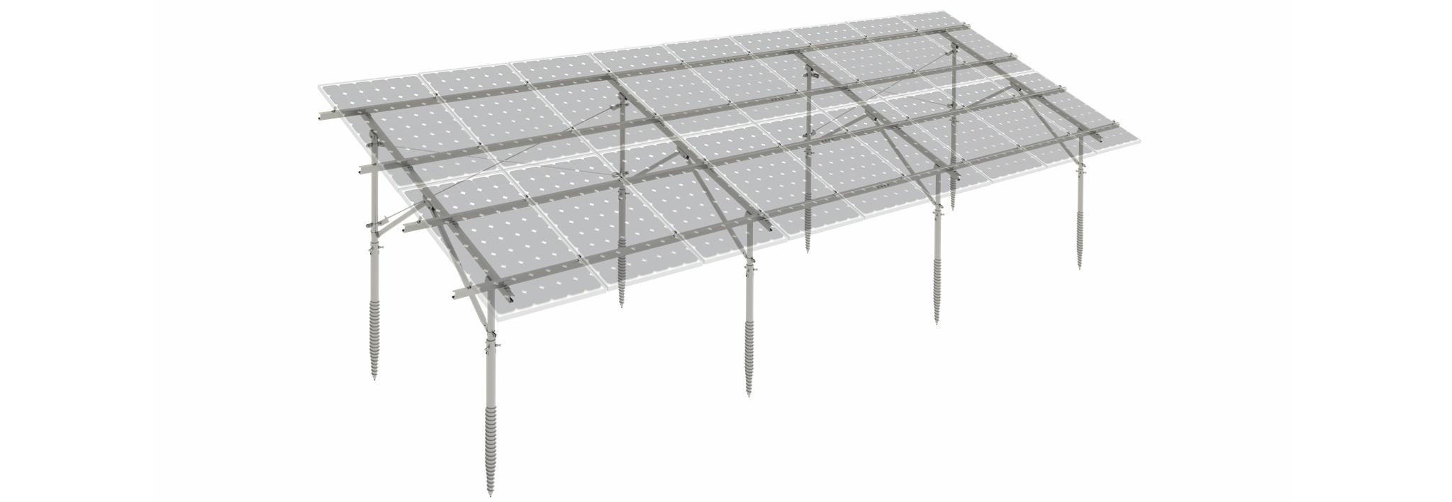 46c PV-ezRack SolarTerrace I-D with Full Panels
