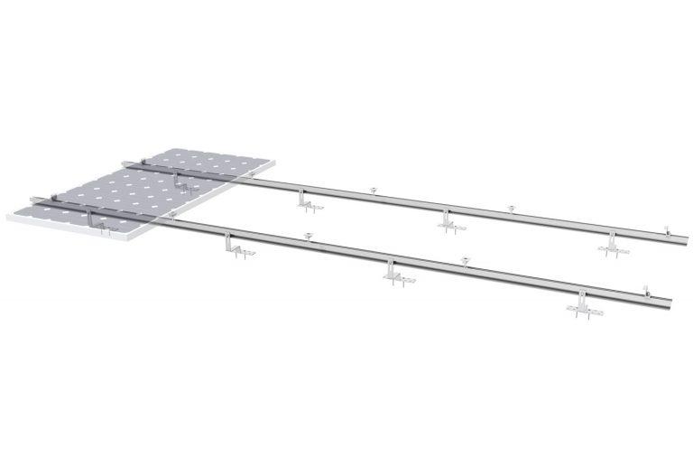 02b PV-ezRack SolarRoof Tile with Panel