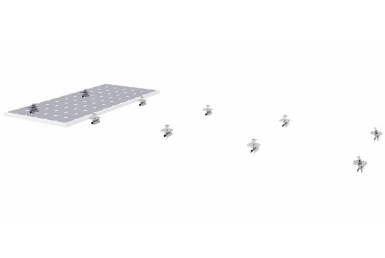 06b PV-ezRack SolarRoof Non-Penetrative Klip-lok as Flush Mount with Panel