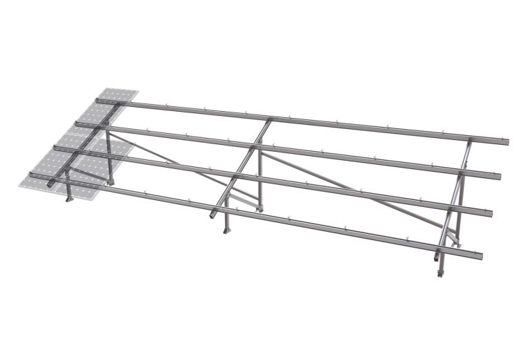 40b PV-ezRack SolarTerrace III-A with Panels