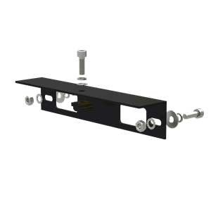 AB-SR IS 260 B Angle Bracket for Isolator Shade, 260 mm Length, Black Anodized