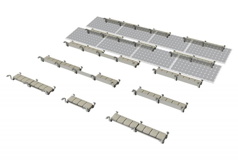41b PV-ezRack SolarBase with Panel