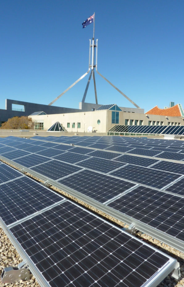 Clenergy-Solar-Matrix-Pro_Australia-parliament_Installed-by-other-installer_Rooftop-Solar_Project596
