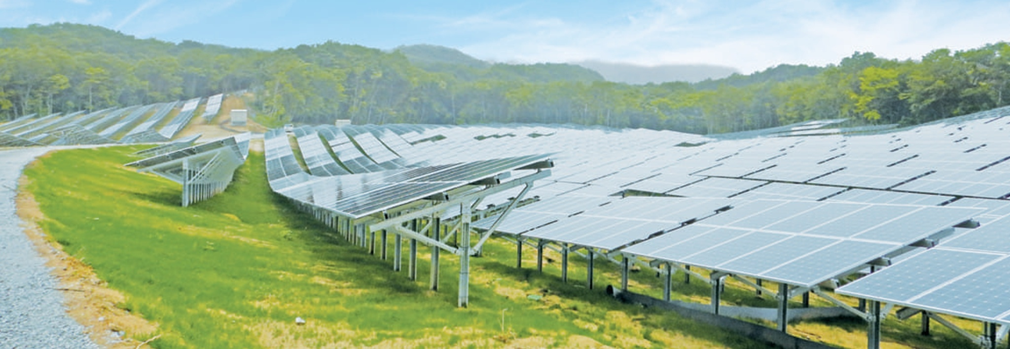 Clenergy Ground-mount PV-ezRack SolarTerrace II-F 40MW Solar Plant in Kawauchi – Japan 01