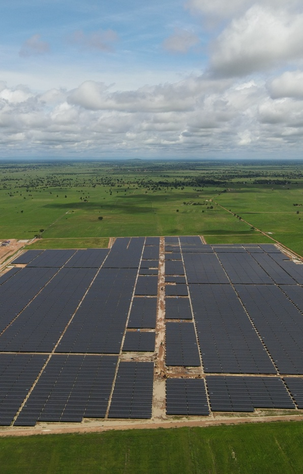 Clenergy Ground-mount PV-ezRack SolarTerrace Eco 39MW Solar Plant in Banteay Meanchey - Cambodia
